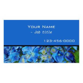 blue hydrangea flowers contemporary business card