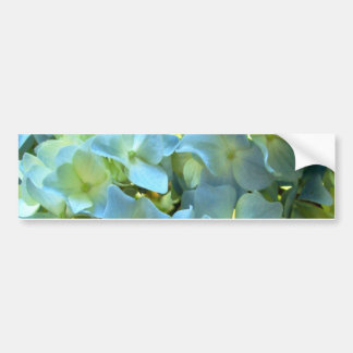 Blue Hydrangea Flowers Floral Flower Photo Bumper Sticker