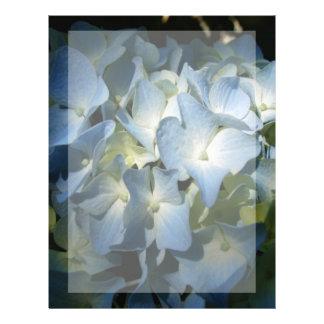Blue Hydrangea Flowers Floral Flower Photo Letterhead