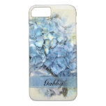 Blue Hydrangea Flowers Iphone 7 Case at Zazzle
