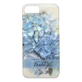 Blue Hydrangea Flowers iPhone 7 Case