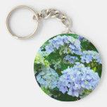 Blue Hydrangea Flowers keychain Summer Garden