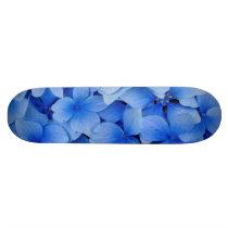 Blue Hydrangea Flowers Skateboard