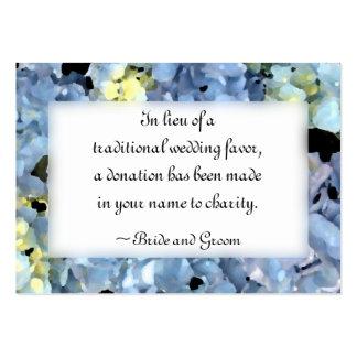 Blue Hydrangea Flowers Wedding Charity Card