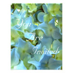 Blue Hydrangea Flowers You Are Invited Personalized Announcements
