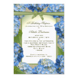 "Blue Hydrangea Garden Party Birthday 5"" X 7"" Invitation Card"