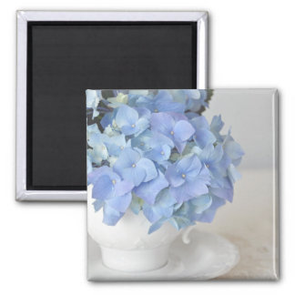 Blue Hydrangea in Tea Cup Magnets