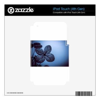 Blue Hydrangea iPod Touch 4G Skin