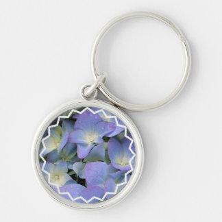 Blue Hydrangea Keychain
