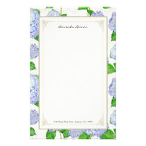 Blue Hydrangea Lace Floral Formal Elegant Weddings Stationery