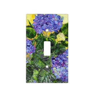 Blue Hydrangea Light Switch Cover