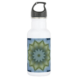 Blue Hydrangea Mandala Image 10 Water Bottle