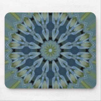 Blue Hydrangea Mandala Image 5 Mouse Pad