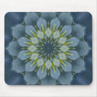 Blue Hydrangea Mandala Image 6 Mouse Pad