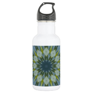 Blue Hydrangea Mandala Image 6 Water Bottle