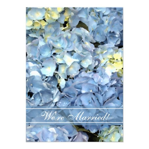 Blue Hydrangea Marriage / Elopement Announcement