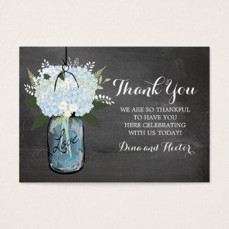 Blue Hydrangea Mason Jar Chalkboard | Favor Tag