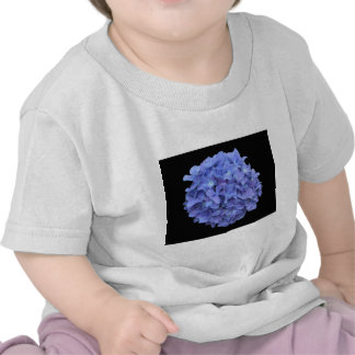 Blue Hydrangea on a Black Background Tee Shirts
