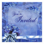 Blue Hydrangea Party Custom Announcements