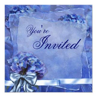 Blue Hydrangea Party Custom Announcements