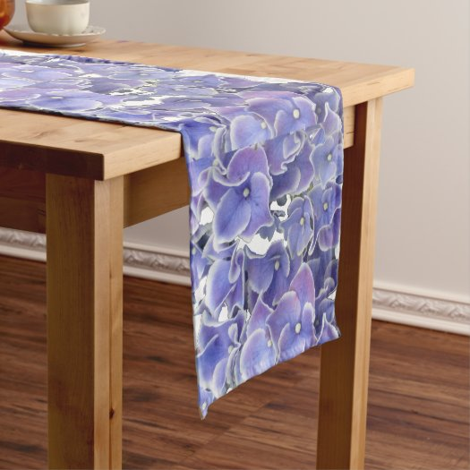 Blue Hydrangea Pattern Table Runner