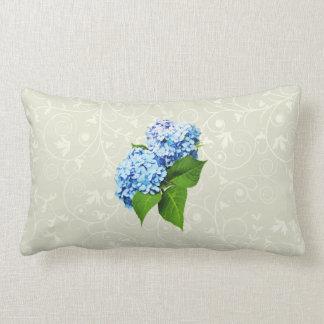 Blue Hydrangea Profile Lumbar Pillow