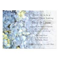 Blue Hydrangea Rehearsal Dinner Invitation