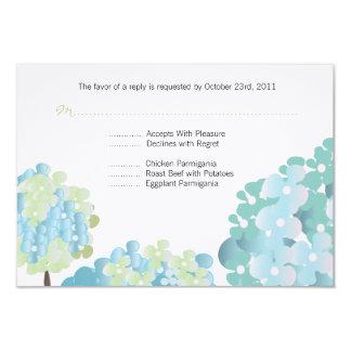 Blue Hydrangea Response Card Personalized Invitation
