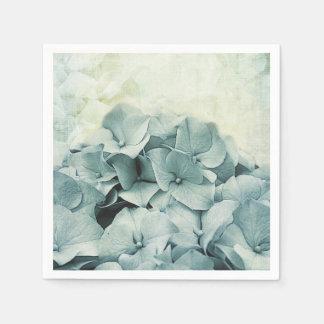 blue hydrangea romantic petals paper napkin