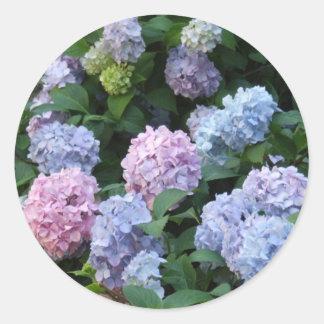 Blue Hydrangea Round Sticker