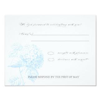 Blue Hydrangea RSVP Card