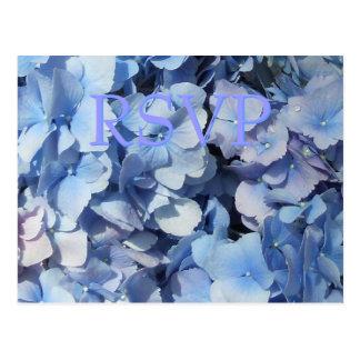 Blue Hydrangea RSVP Response Post Cards