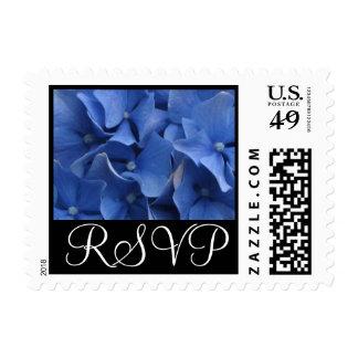 Blue Hydrangea RSVP Stamp