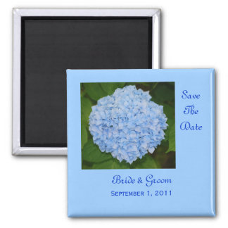 Blue Hydrangea Save The Date Magnet