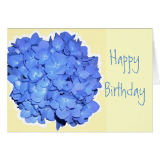 Blue Hydrangea Scripture Birthday Cards