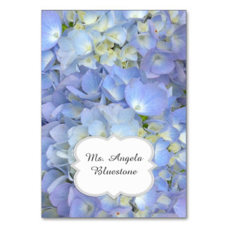 Blue Hydrangea Tented Place Cards Name Table Card