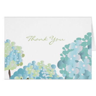 Blue Hydrangea Thank You Card