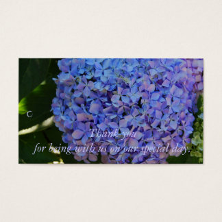Blue Hydrangea Thank you Gift Tag