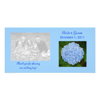 Blue Hydrangea Thank You Photo Cards