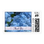 Blue Hydrangea Thank You Postage