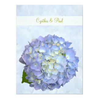 "Blue Hydrangea Vow Renewal Invitation 6.5"" X 8.75"" Invitation Card"