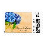 Blue Hydrangea Watercolor Mason Jar Bridal Shower Postage