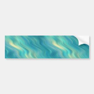 Blue Hydrangea Wavy Texture Bumper Sticker