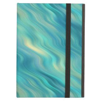 Blue Hydrangea Wavy Texture Case For iPad Air