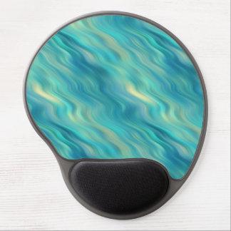 Blue Hydrangea Wavy Texture Gel Mouse Pad