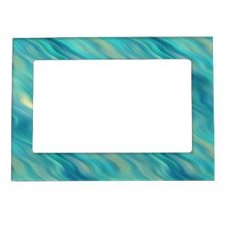 Blue Hydrangea Wavy Texture Magnetic Photo Frame