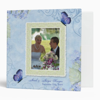 Blue Hydrangea, Wedding Album Binder