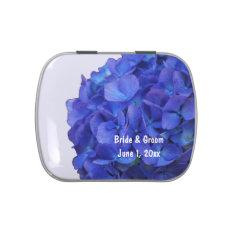 Blue Hydrangea Wedding Candy Tins at Zazzle