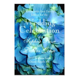 Blue Hydrangea Wedding collection Card