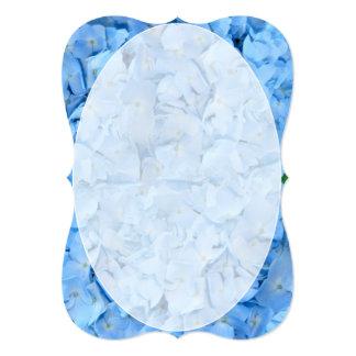 Blue Hydrangea Wedding Fan Program Paper Card